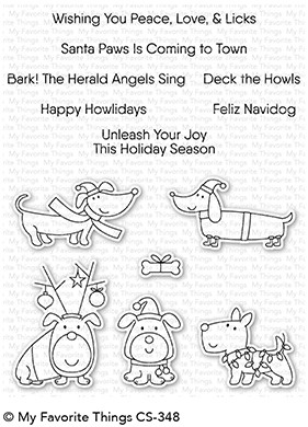 Happymade - My Favorite Things clear stamp set - Deck The Howls (CS-348)